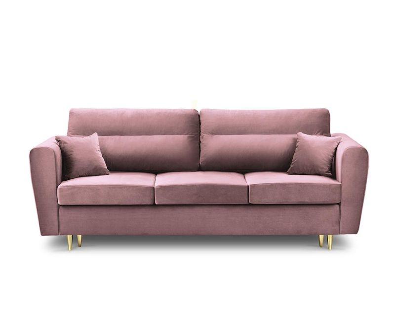 Remy Pink Háromszemélyes kihúzható kanapé