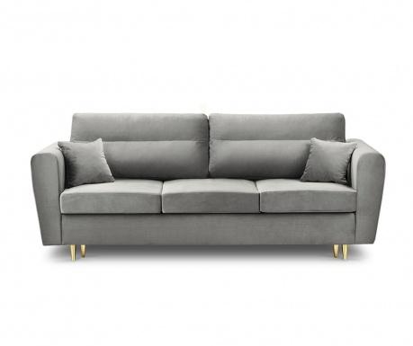 Rozkładana kanapa trzyosobowa Remy Light Grey
