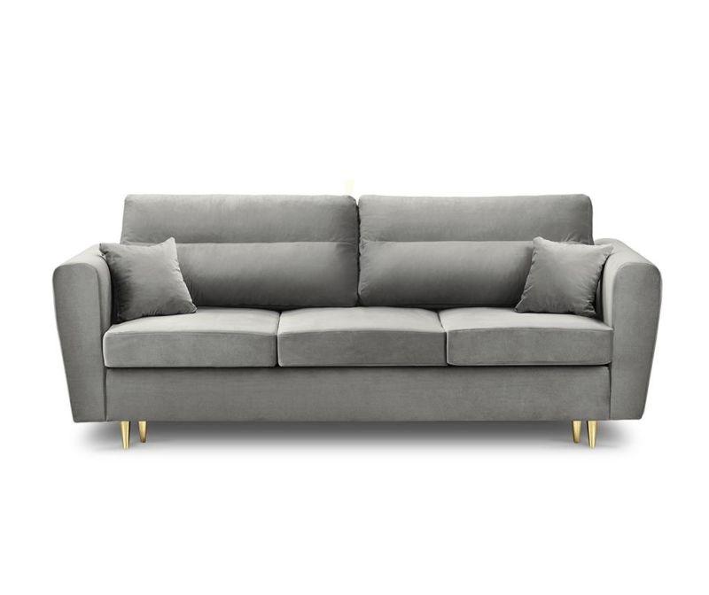 Remy Light Grey Háromszemélyes kihúzható kanapé