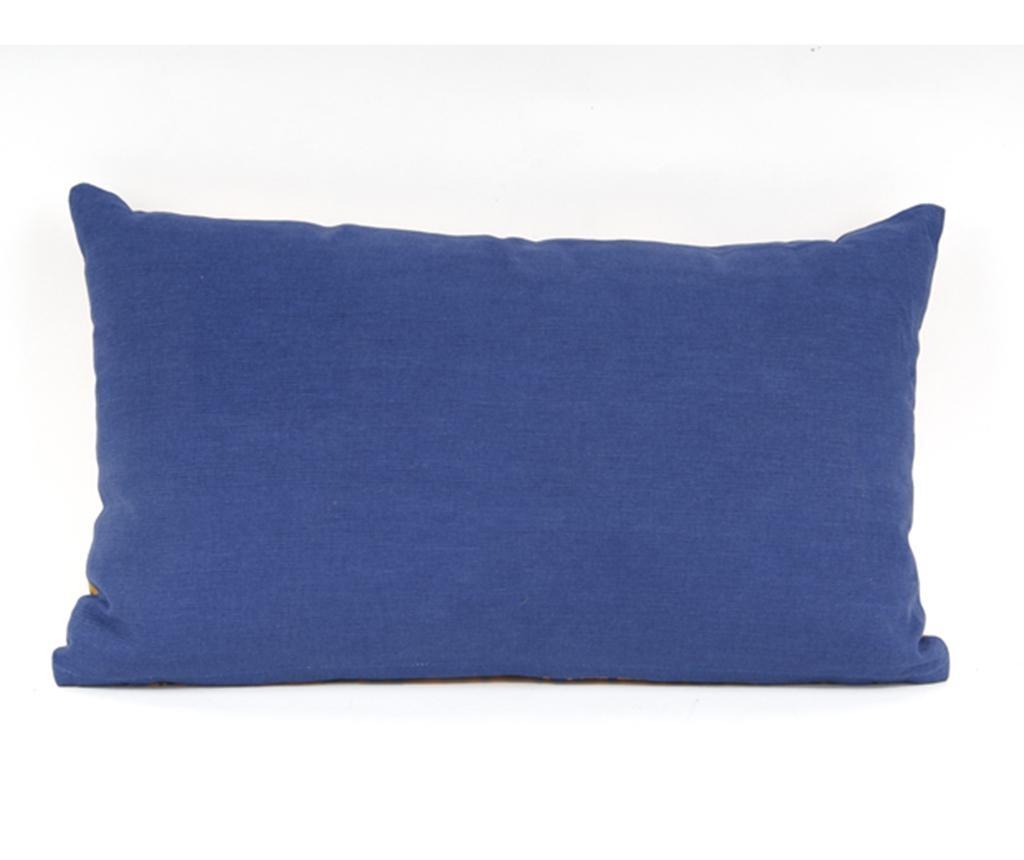 Okrasna blazina Oblique Dark Blue and Yellow 30x50 cm