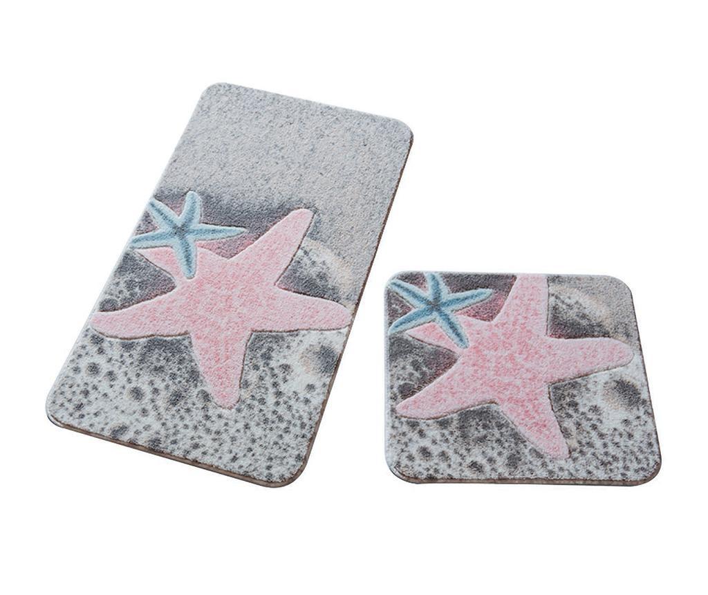 Starfish Pink 2 db Fürdőszobai szőnyeg