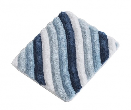 Kúpeľňová predložka Wavy Blue 50x60 cm