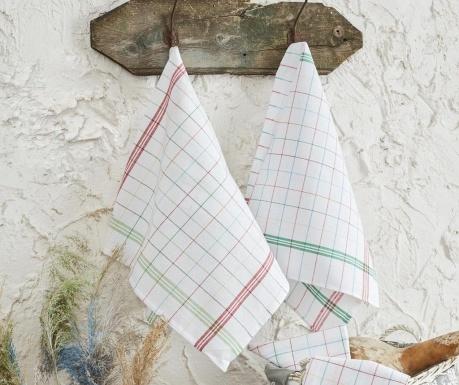 Set 10 kuhinjskih ručnika Cizgli White 46x76 cm