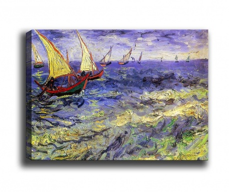 Tablou Fishing Boats at Sea 50x70 cm