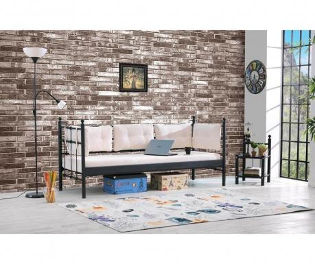 Canapea 3 locuri pentru exterior Lalas Extra Black and Beige