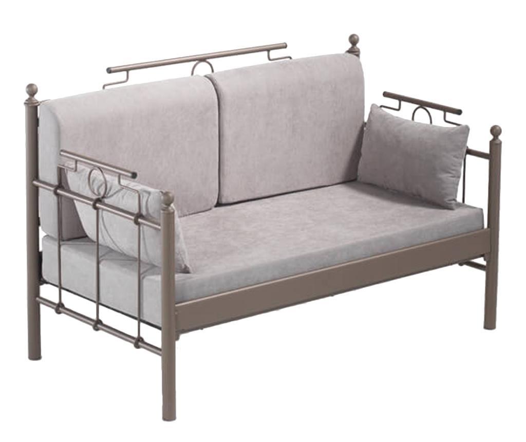 Canapea 2 locuri pentru exterior Hatkus Brown and Grey