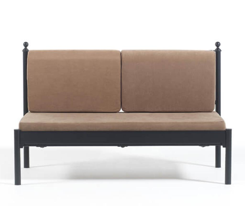 Canapea 2 locuri pentru exterior Mitas Black and Brown
