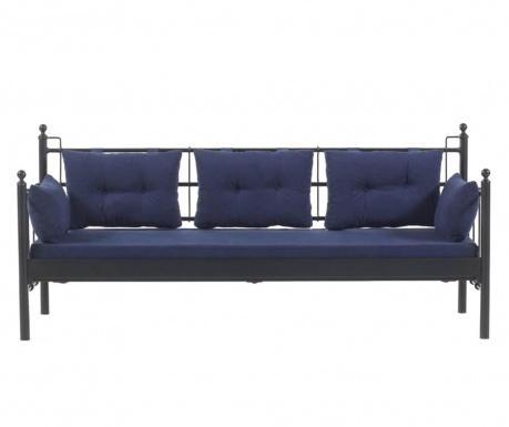 Canapea 3 locuri pentru exterior Lalas  Black and Dark Blue