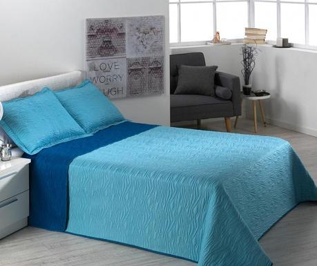 Zestaw pikowany na łóżko Double Alma Waves Blue