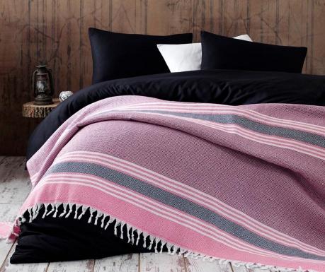 Přehoz Pique Anna Yatak Pink & Black 220x240 cm