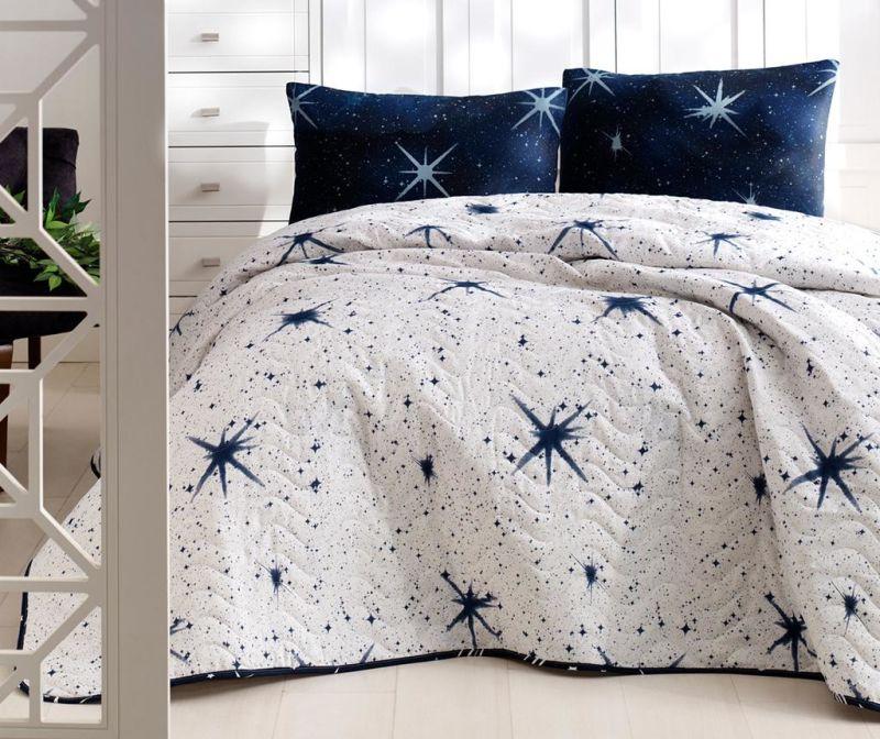 Megastar White Kétszemélyes steppelt ágytakaró garnitúra