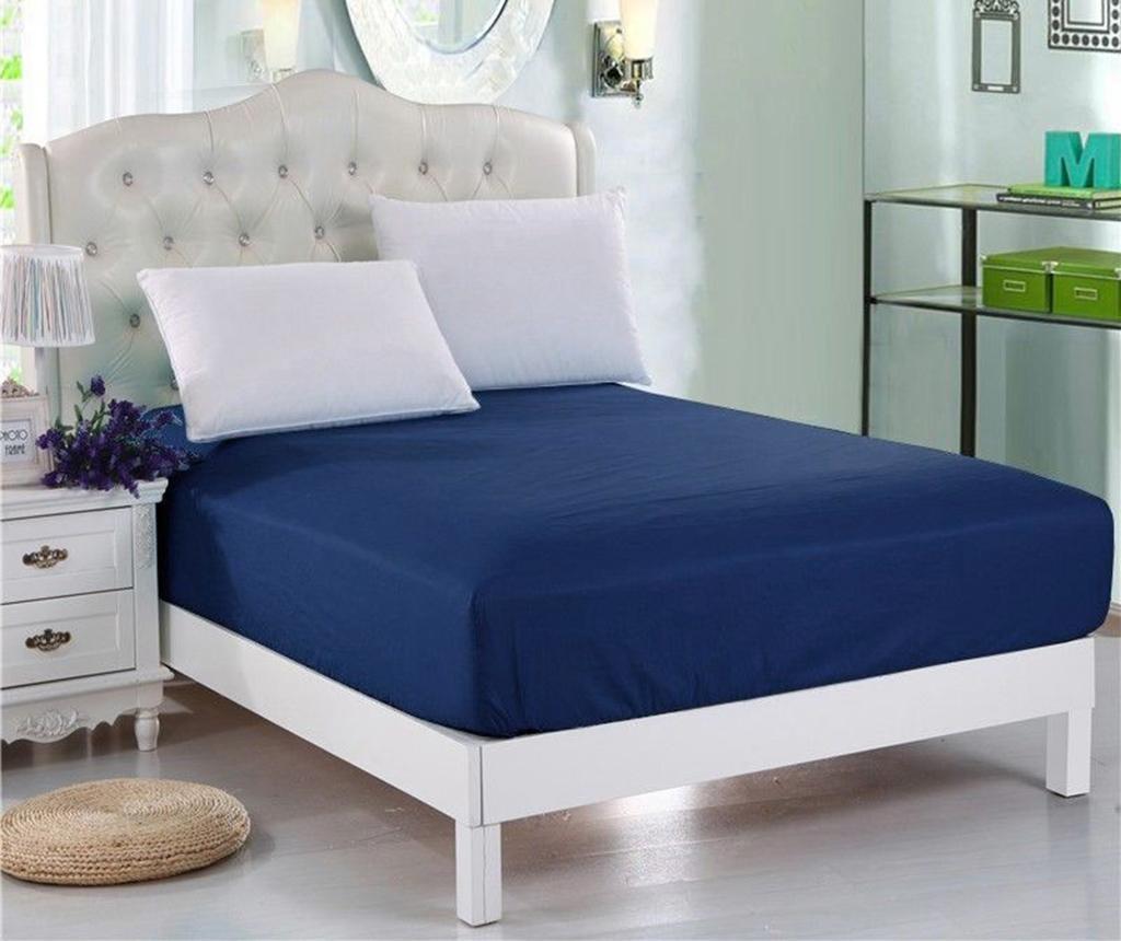 Долен чаршаф с ластик Orme Penye Dark Blue 160x200 см