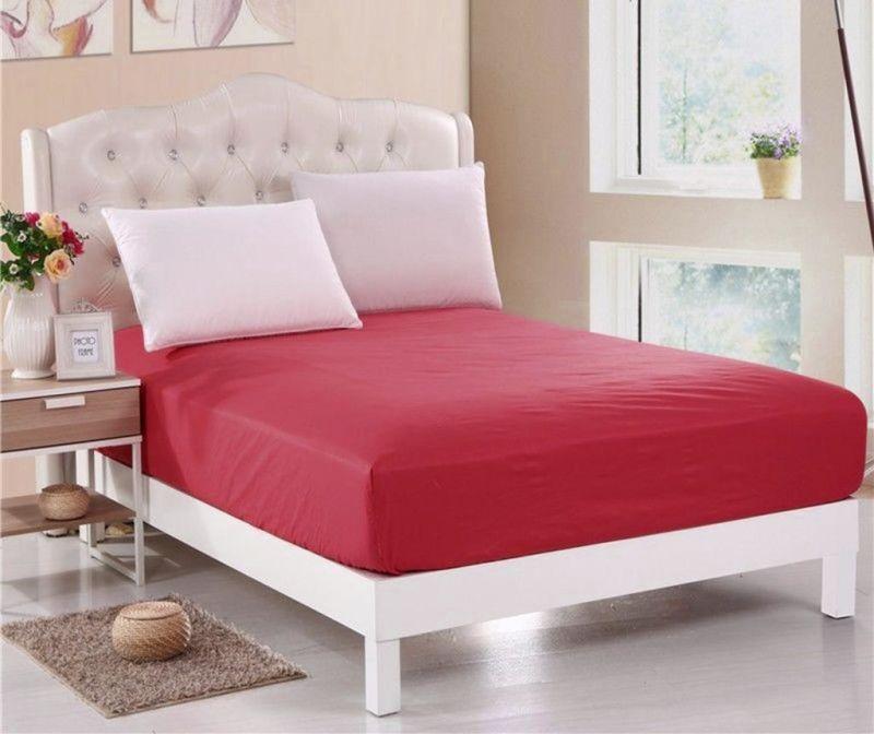 Cearsaf de pat cu elastic Orme Penye Red 160x200 cm