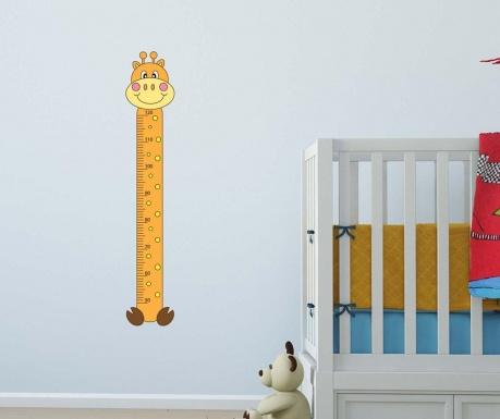 Nalepka za merjenje višine otrok Happy Giraffe