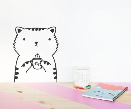 Samolepka Coffee Cat