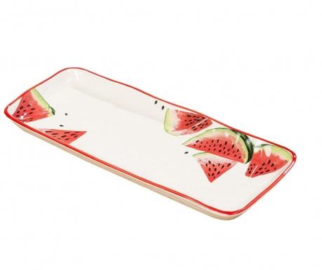 Servirni krožnik Melony Red