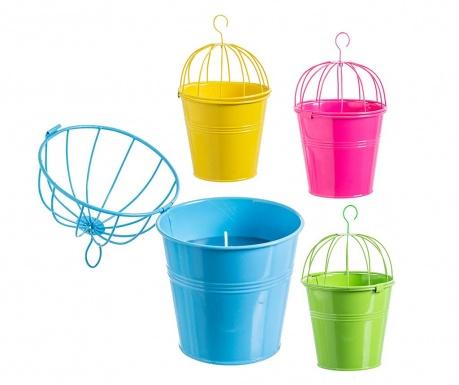 Zestaw 4 świeczek wiszących Citronella Bucket