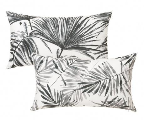 Set 2 okrasnih blazin Trellis Black White 30x50 cm