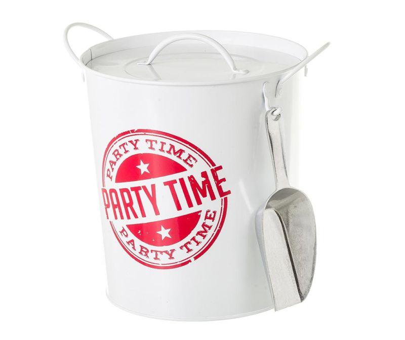 Kbelík s víkem na led Party Time White Red 3 L