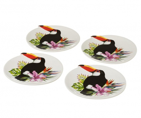 Комплект 4 плитки чинии Toucan