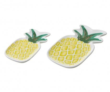 Zestaw 2 pater dekoracyjnych Pineapple