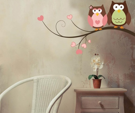 Nalepka Owls in Love