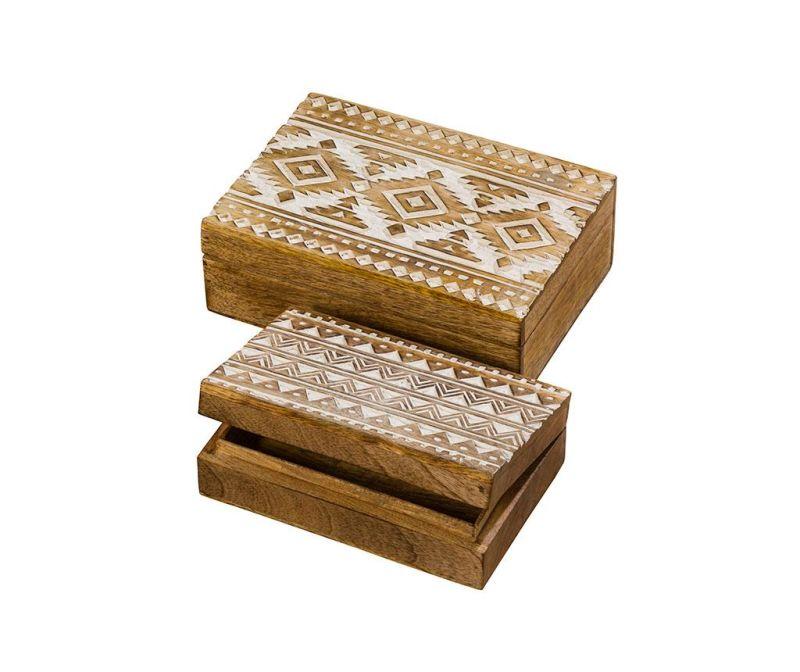 Set 2 kutije s poklopcem Lavonne
