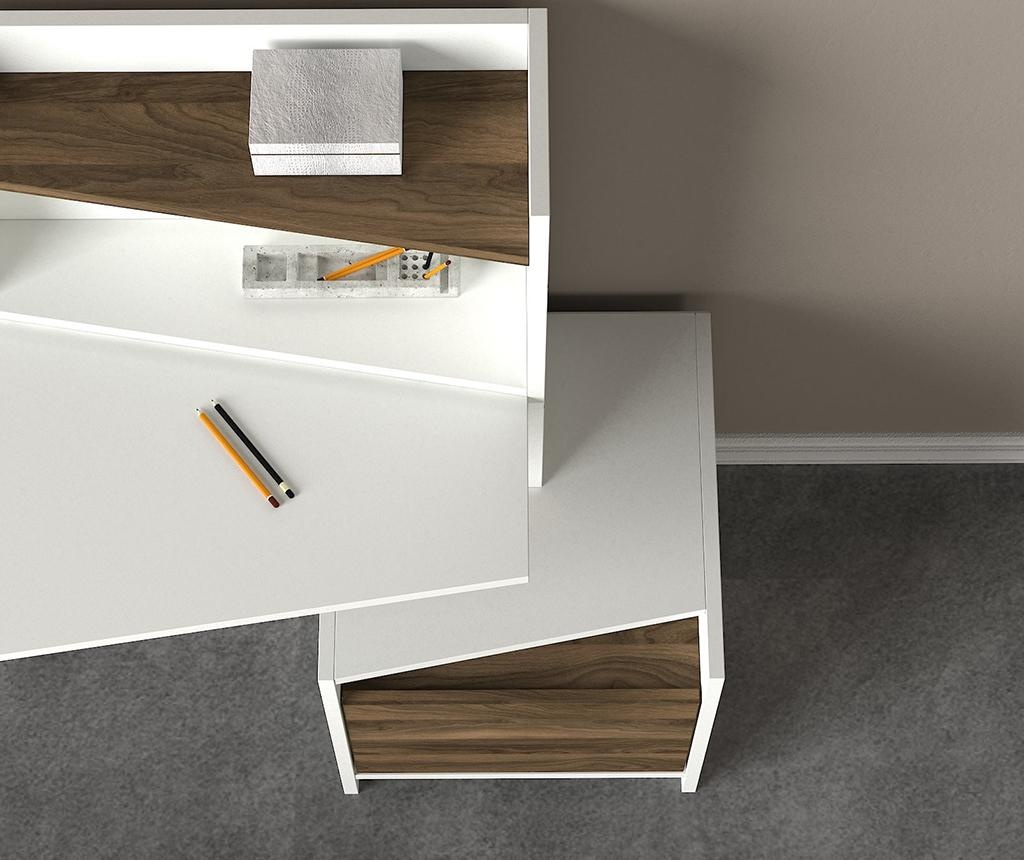Birou Vertigo White Walnut