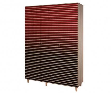 Garderobna omara Mode Stripes Gradient Red