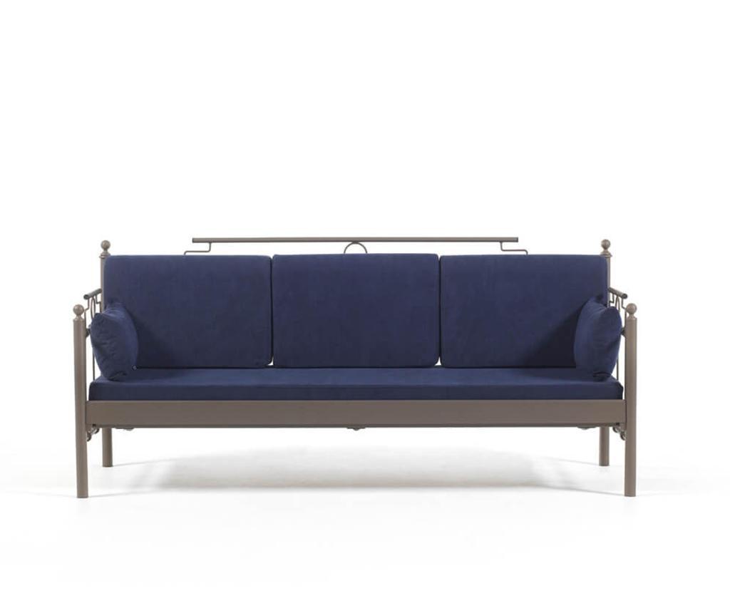 Set canapea 3 locuri si 2 fotolii pentru exterior Hatkus Brown Dark Blue