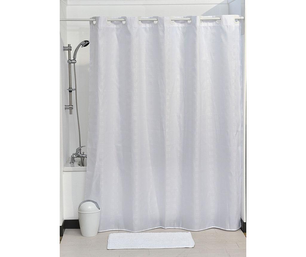 Zavesa za prho Cubic White 180x200 cm