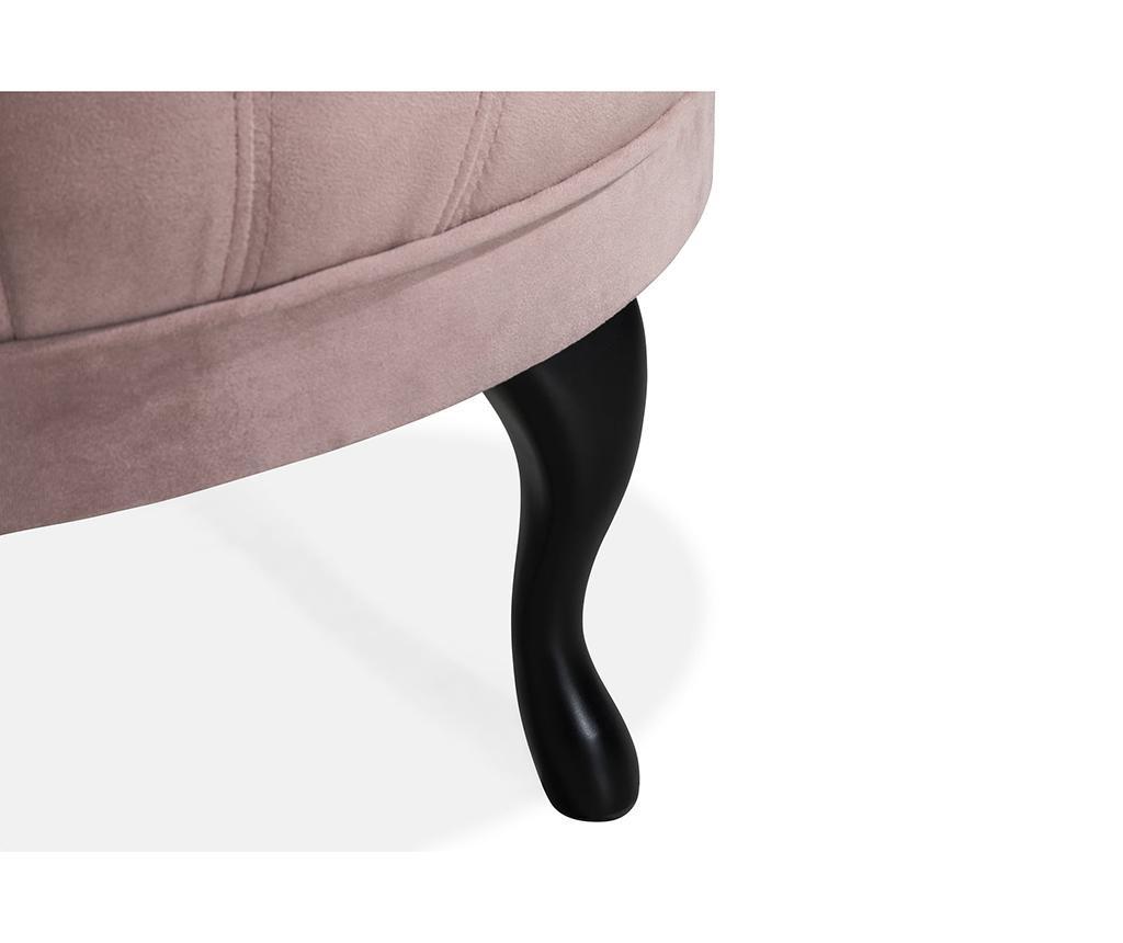 Taburet pentru picioare diYana Light Pink Maxi