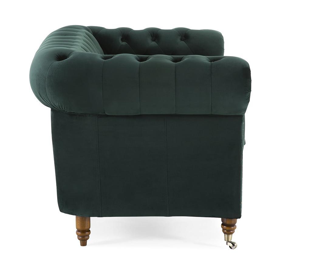 Kauč dvosjed Chesterfield Dark Green