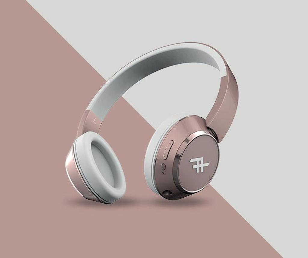 Casti wireless cu microfon iFrogz Coda Rose Gold