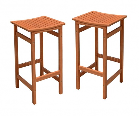 Sada 2 barových stoličiek do exteriéru Palmdale
