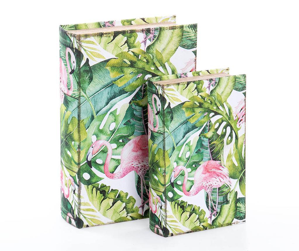 Set 2 cutii tip carte Cornell - Garpe Interiores, Multicolor