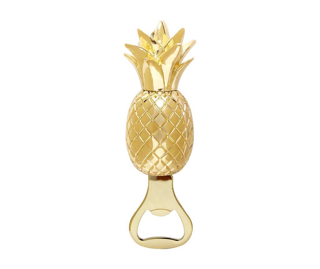 Deschizator pentru sticle Pineapple - Premier, Galben & Auriu