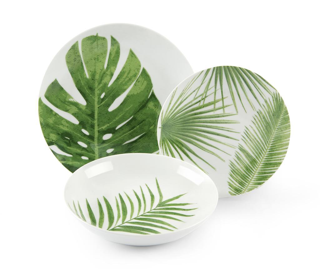 Set de masa 18 piese Foliage - Excelsa, Verde