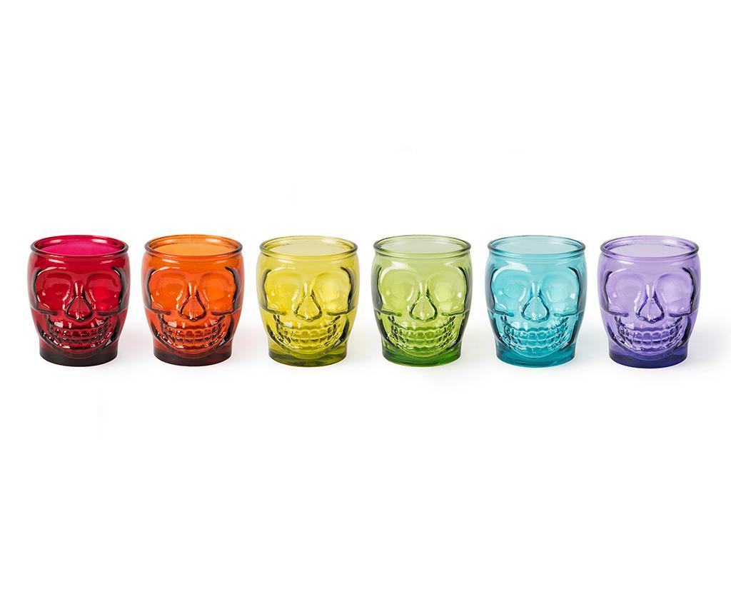 Set 6 pahare Calavera 400 ml - Excelsa, Multicolor