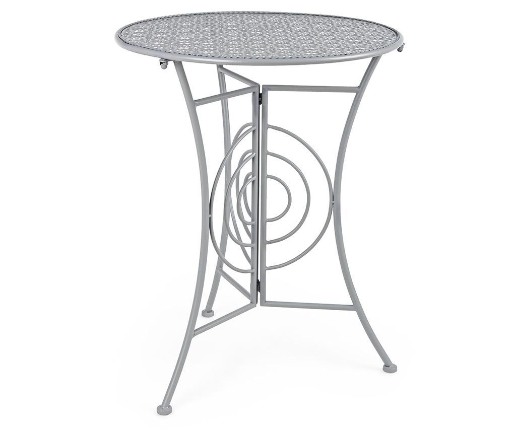 Masa pliabila pentru exterior Marlene Grey - Bizzotto, Gri & Argintiu