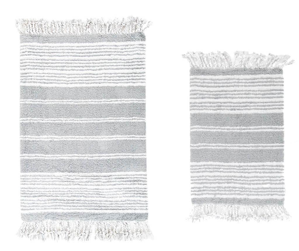 Set 2 prosoape de baie Relax Grey - Irya, Gri & Argintiu