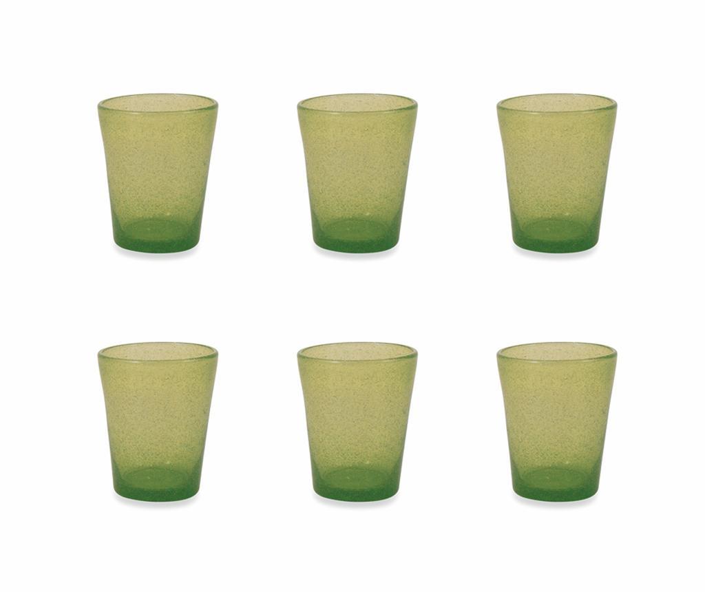 Set 6 pahare pentru apa Cancun Satin Green 330 ml - Villa D'Este Home Tivoli, Verde