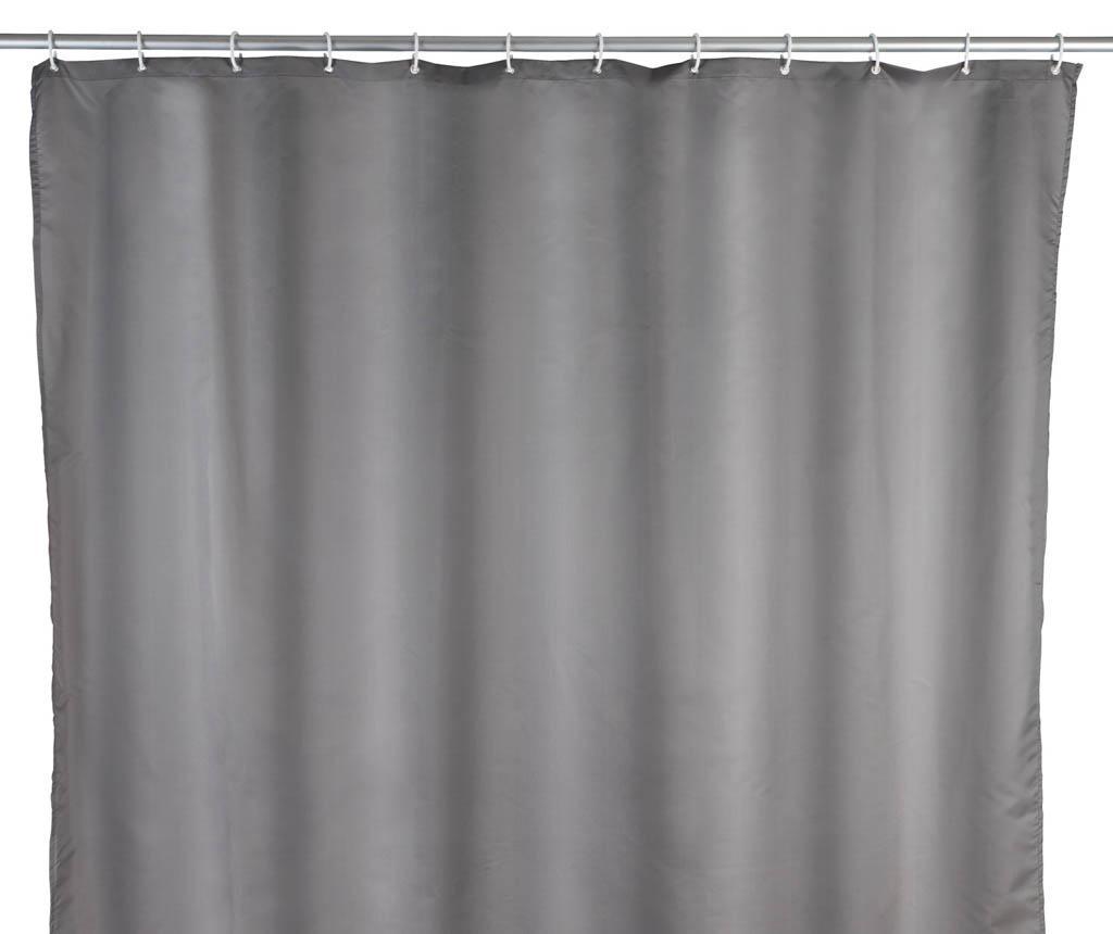 Perdea de dus Barry Grey 180x240 cm - Wenko, Gri & Argintiu