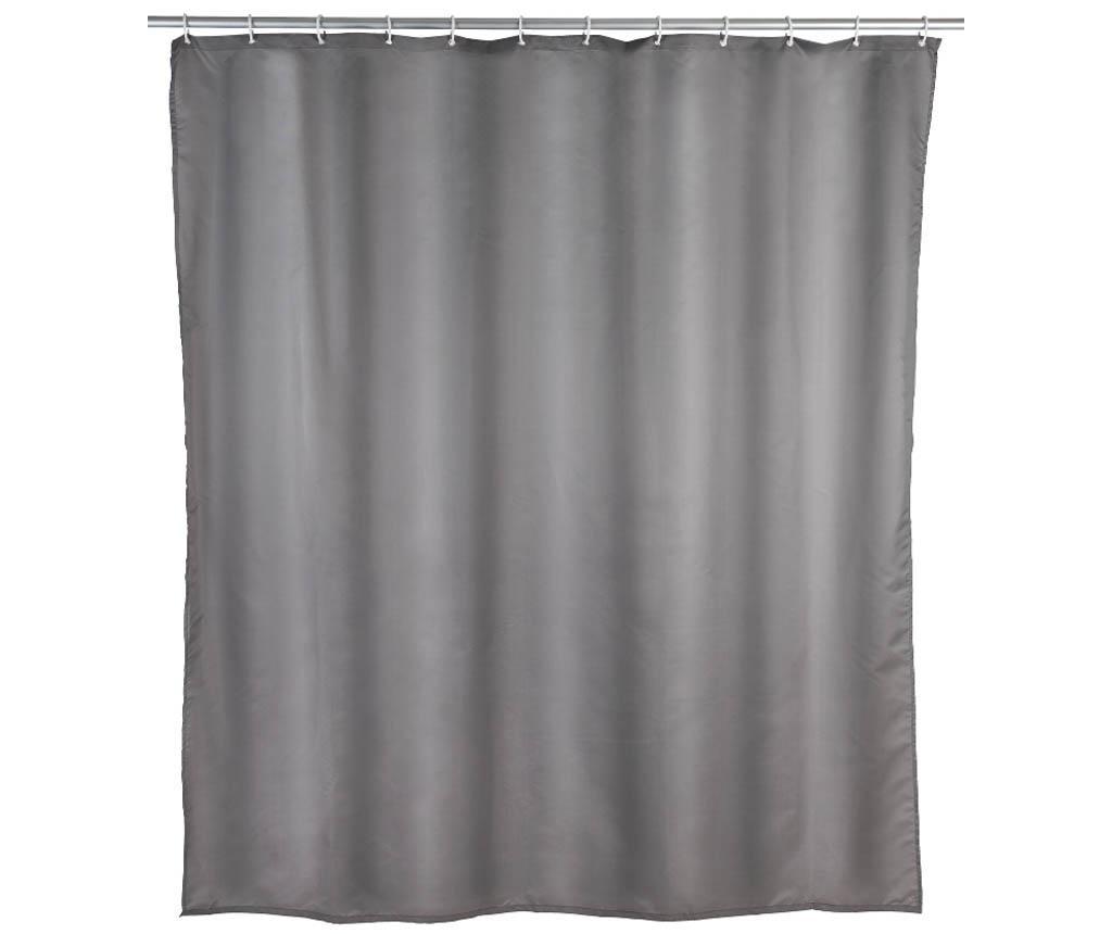 Perdea de dus Barry Grey 180x200 cm - Wenko, Gri & Argintiu de la Wenko