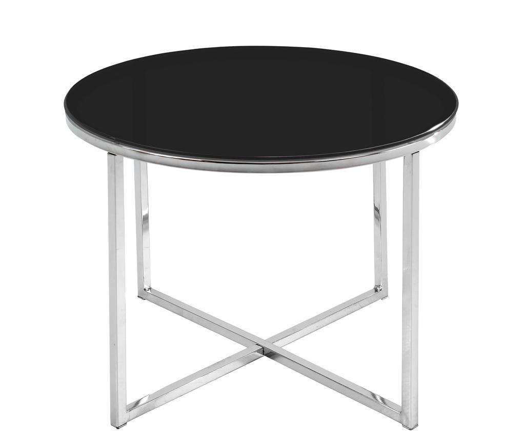 Masuta de cafea Cross Style Round Black - actona, Negru