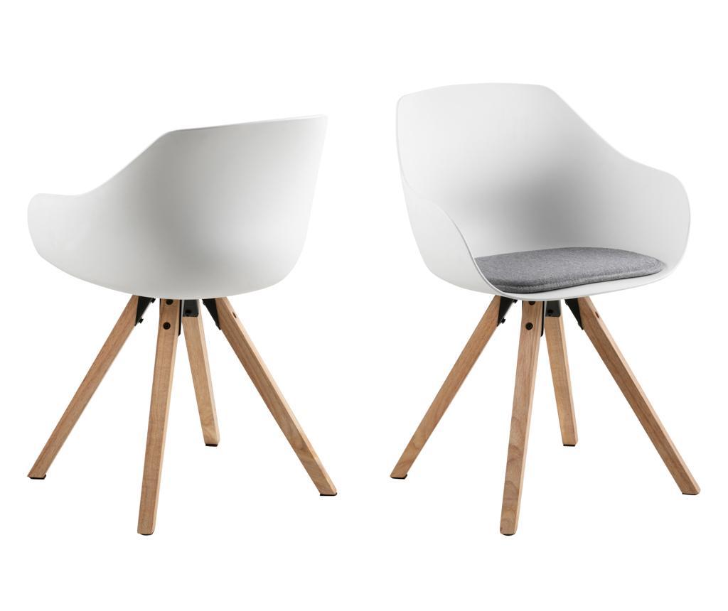 Set 2 scaune Tina - actona, Alb
