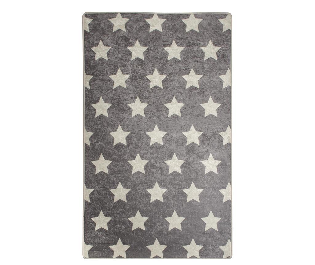 Covor Stars Geometric 140x190 cm - Chilai, Gri & Argintiu