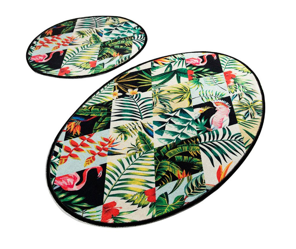 Set 2 covorase de baie Jungle Fever - Chilai Home, Multicolor