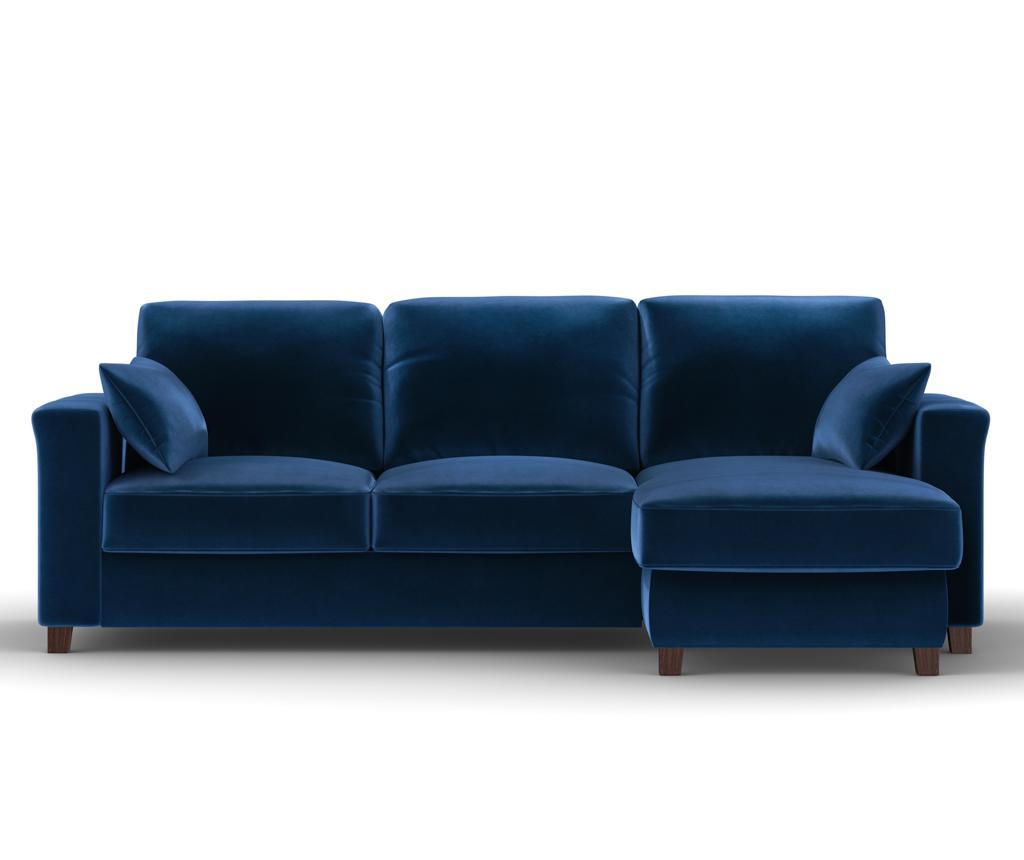 Coltar Reversibil Si Extensibil Relax Royal Blue - Kooko Home, Albastru