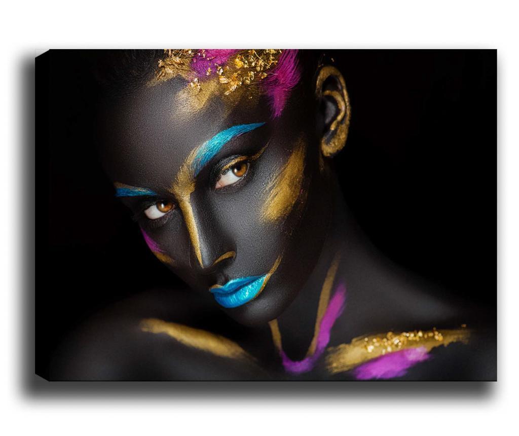 Tablou Color Lady 70x100 Cm - Tablocenter, Multicolor